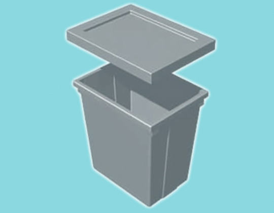 Rectangular Nestable Bin - 470L x 350W x 500H