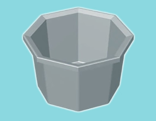 Octagonal Planter Pot - 165L