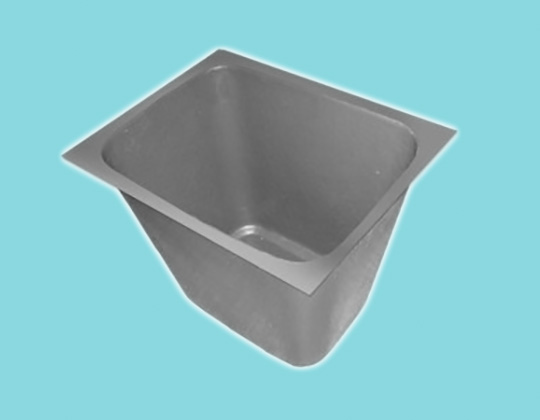 Rectangular Bin with Flange - 400/255L x 320/185W x 300H